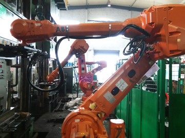 Robotic automated forging production line