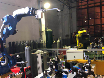 Robotic automated welding production line